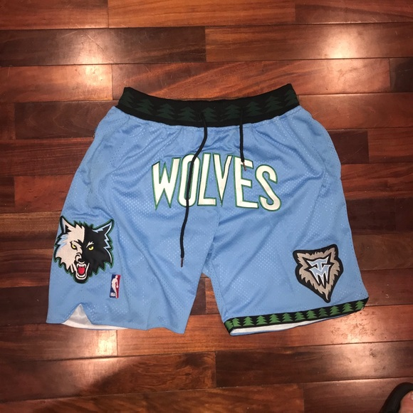 Minnesota timberwolves nba jersey shorts!